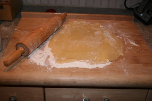 Crostata Dough on the pastry board